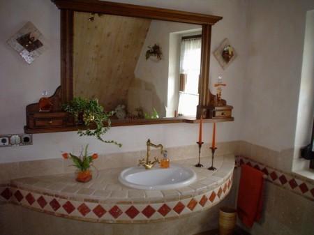 Arzgebirgspension - Badezimmer Dachgeschoss